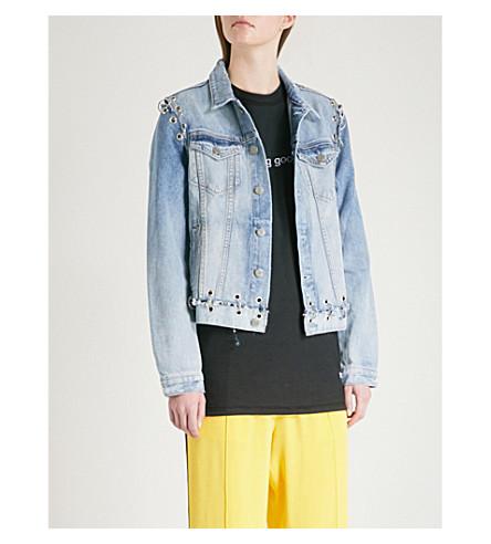 GRLFRND Gia distressed denim jacket (Hardware