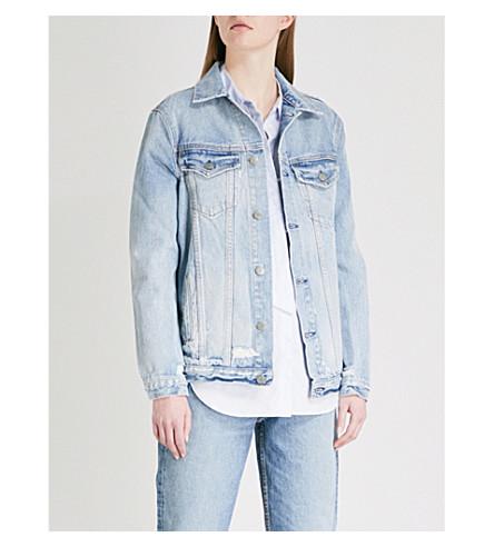 GRLFRND Daria distressed denim jacket (Tumbleweed
