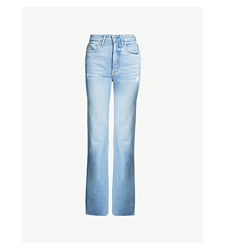 GRLFRND Carla straight flared high-rise jeans (Gonna fly