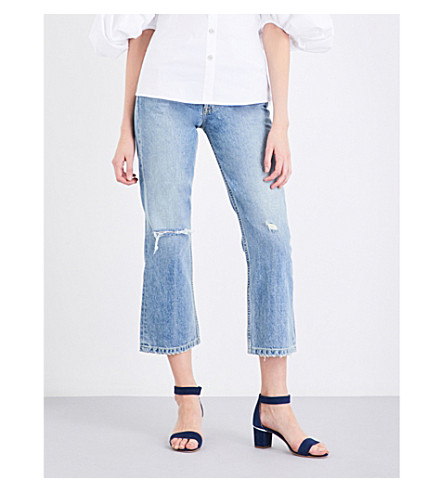 GRLFRND Linda flared cropped high-rise jeans (Harrison