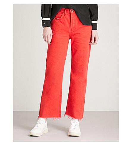 GRLFRND Linda straight high-rise jeans (Flores