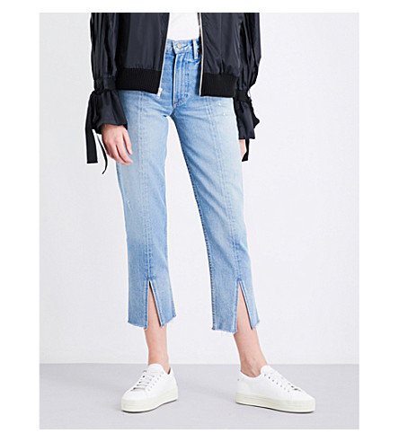 GRLFRND Cheryl straight cropped high-rise jeans (Last+dance