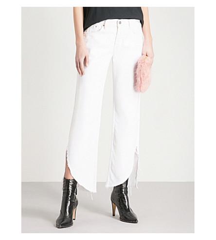 GRLFRND Maran wide-leg mid-rise jeans (White+lie