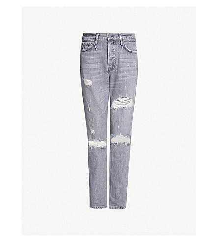 GRLFRND Karolina ripped high-rise skinny jeans (You got the look