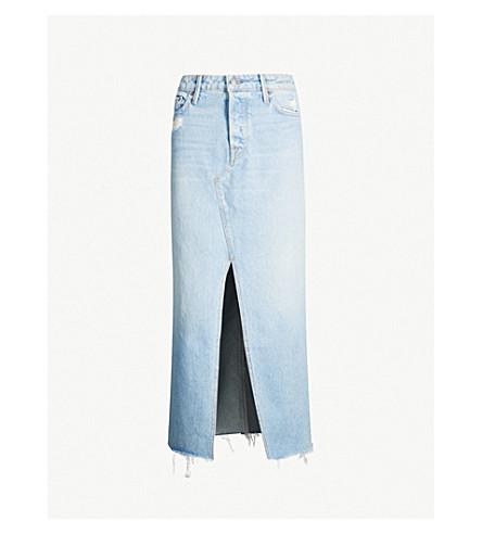 GRLFRND Isla distressed denim skirt (Dont look back