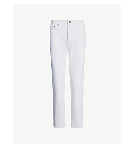 GRLFRND Devon straight high-rise jeans (Moon dance