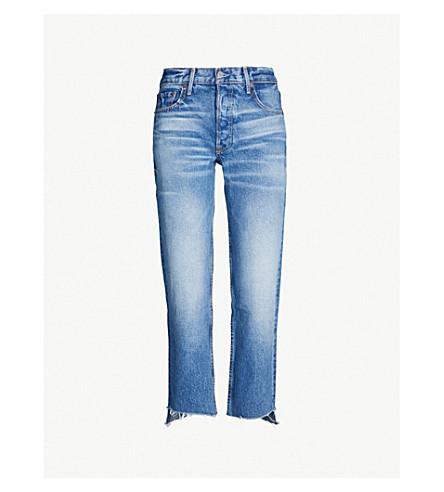 GRLFRND Helena cropped mid-rise skinny jeans (Turn blue