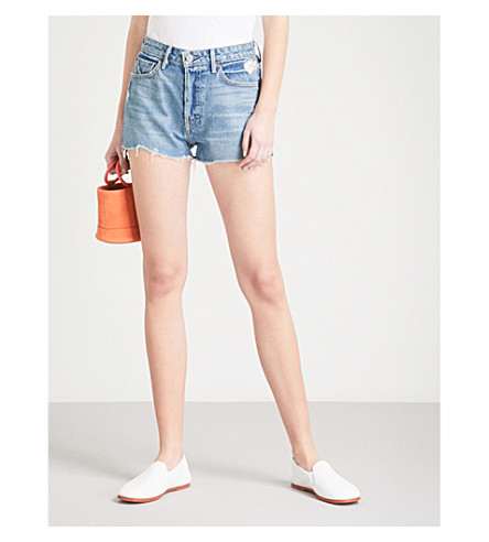GRLFRND Cindy high-rise denim shorts (Nobody+does+it+better
