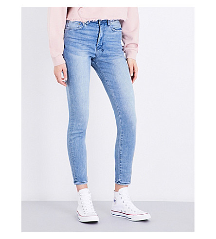 KSUBI Hi & Wasted skinny high-rise jeans (Blue+ash