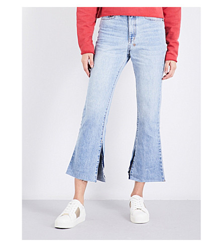KSUBI Kick'n slim-fit flared mid-rise jeans (Denim