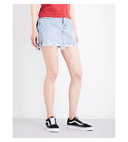 KSUBI Distressed denim mini skirt (Denim