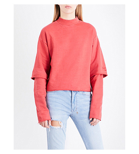 KSUBI Second Time cotton-jersey sweatshirt (Red