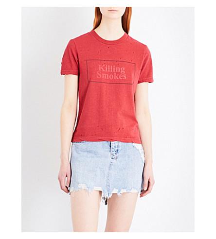 KSUBI Killing Smokes cotton-jersey T-shirt (Red