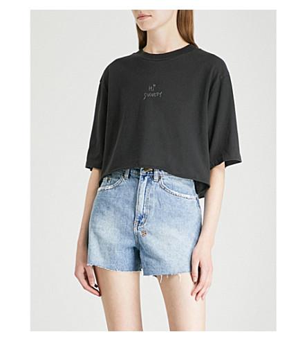black KSUBI T cropped Hi Society to cotton shirt jersey Back TCTfzwrq