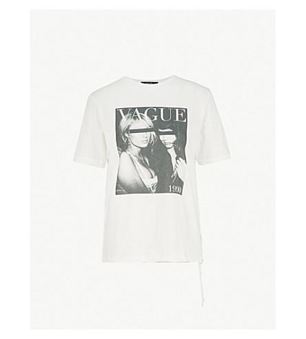 KSUBI模糊棉布球衣 t恤衫 (白色
