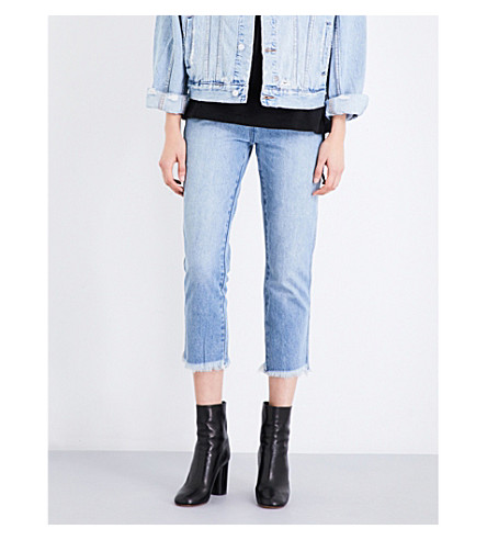 KSUBI Straight N Narrow straight mid-rise jeans (Bail out blue