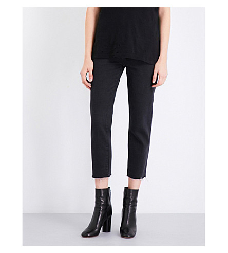 KSUBI Straight N Narrow straight mid-rise jeans (Black crow