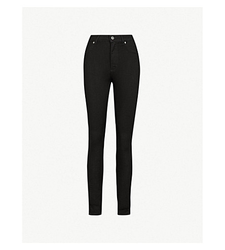 CHEAP MONDAY High Spray skinny high-rise jeans (Black