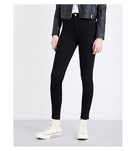 CHEAP MONDAY High Spray skinny high-rise jeans (Black