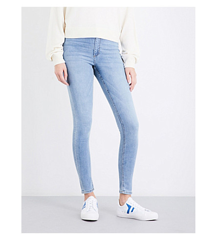 CHEAP MONDAY High Spray skinny high-rise jeans (Stone+bleach