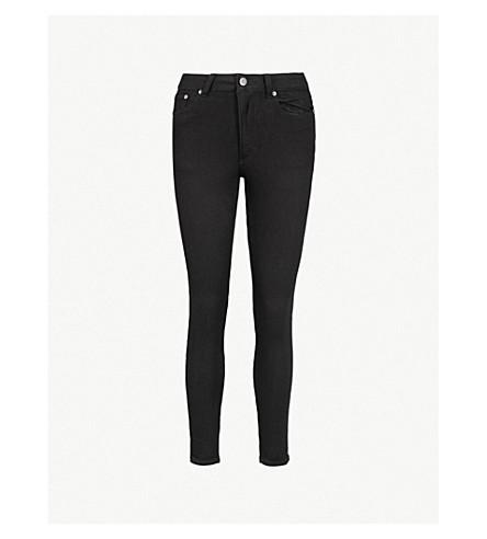 CHEAP MONDAY高皮肤高级瘦身牛仔裤 (纯 + 黑色