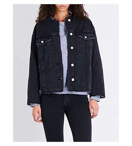 CHEAP MONDAY Tromber raw-hem denim jacket (Black+thursday