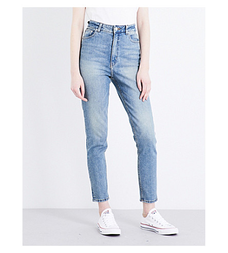 CHEAP MONDAY Donna skinny high-rise jeans (Penny+blue