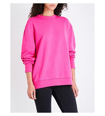 CHEAP MONDAY Logo-print jersey sweatshirt (Neon+pink