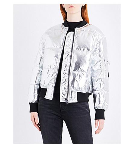 CHEAP MONDAY Risky metallic shell puffer bomber jacket (Silver