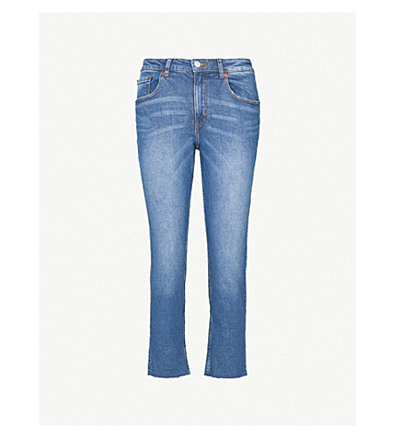 CHEAP MONDAY Revive skinny high-rise cropped jeans (Blue+high