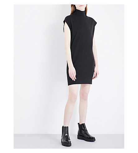 CHEAP MONDAY High-neck cotton-jersey dress (Black