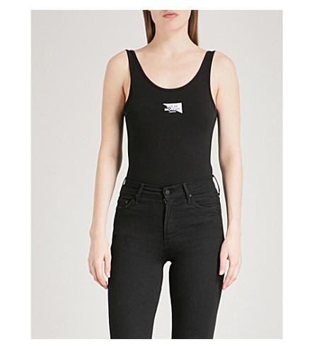 CHEAP MONDAY Dip Yang logo-print stretch-cotton body (Black