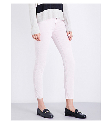 CURRENT/ELLIOTT The Stiletto skinny high-rise jeans (Soft+pink