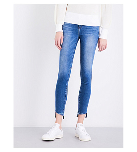CURRENT/ELLIOTT The Stiletto skinny mid-rise jeans (Sereno+w/+released