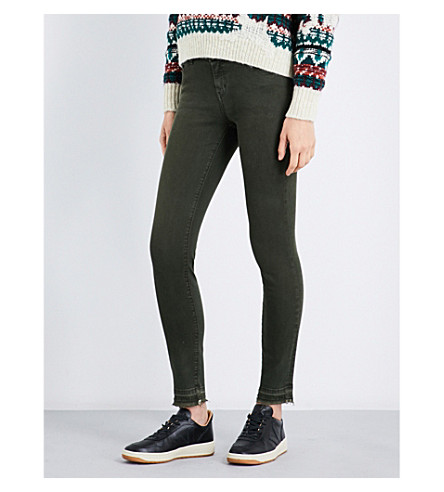 CURRENT/ELLIOTT The Stiletto skinny mid-rise jeans (Forest+nightw-rlsdhe