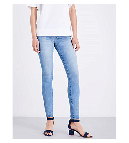 CURRENT/ELLIOTT The Ankle Skinny high-rise jeans (Richland