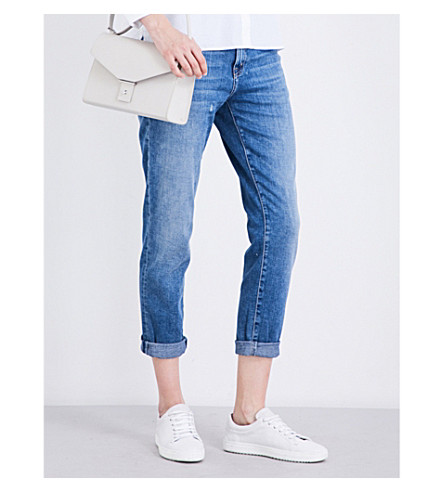 CURRENT/ELLIOTT The Fling relaxed-fit cropped mid-rise jeans (Sawyer