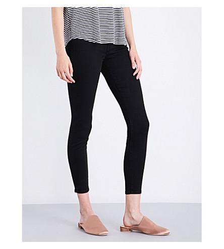 CURRENT/ELLIOTT The Stiletto skinny high-rise jeans (Black