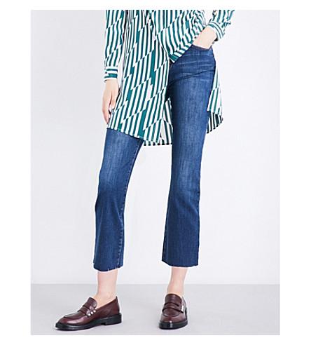 CURRENT/ELLIOTT The Kick high-rise jeans (Ellis+w/cut+out+hem