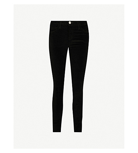 CURRENT/ELLIOTT The Stiletto skinny mid-rise jeans (Jet+black