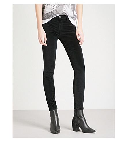 CURRENT/ELLIOTT The Stiletto skinny mid-rise jeans (Jet+black
