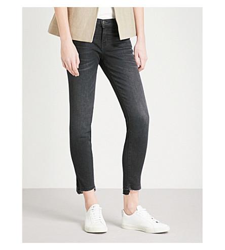 CURRENT/ELLIOTT The Stiletto step hem skinny mid-rise jeans (Yuma+w/+slit+step+hem