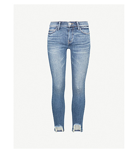 CURRENT/ELLIOTT The Stiletto shot hem skinny mid-rise jeans (Zayden w/ shot hem