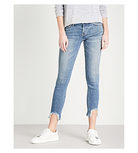 CURRENT/ELLIOTT The Stiletto shot hem skinny mid-rise jeans (Zayden+w/+shot+hem