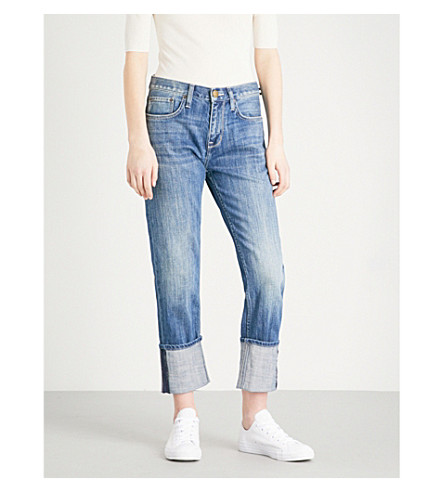 CURRENT/ELLIOTT The His straight mid-rise jeans (Isley