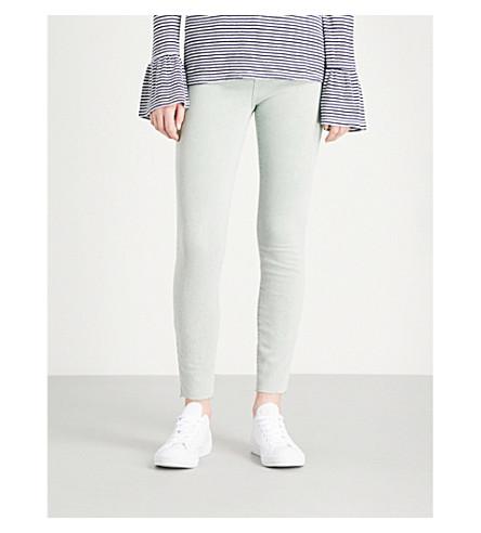 CURRENT/ELLIOTT The Stiletto skinny high-rise cropped jeans (Iceberg+green+w/+cut+hem