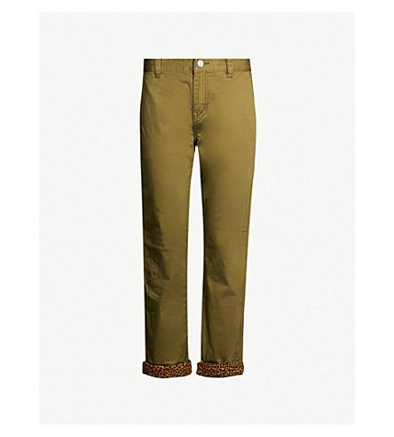 CURRENT/ELLIOTT The Confidant slim-fit stretch-cotton trousers (Capulet olive