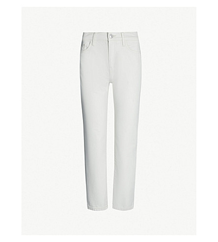 CURRENT/ELLIOTT The Vintage Cropped high-rise skinny jeans (Off white h