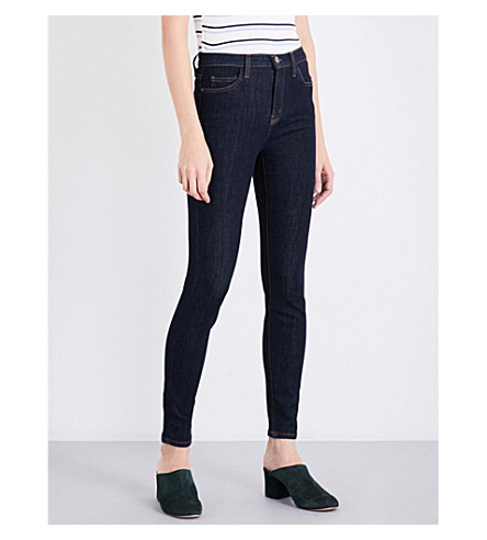 CURRENT/ELLIOTT The Ankle Skinny high-rise jeans (Clean+rinse