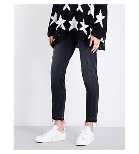 CURRENT/ELLIOTT The Easy Stiletto released-hem skinny mid-rise jeans (2+weeks+worn+black